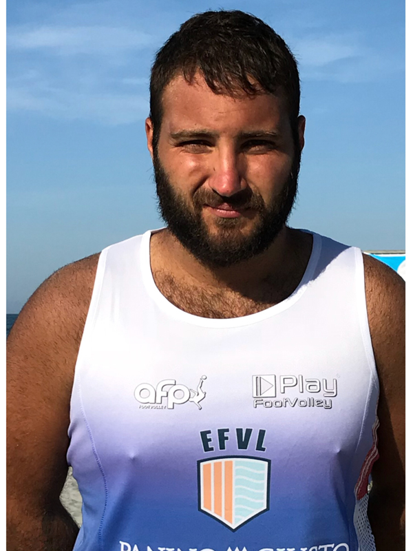 Footvolley player Luca Marcaccini representing Italy