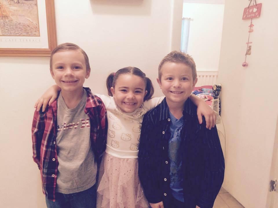 The Furst Kids, Davin, Alyssa and Nick (L to R)