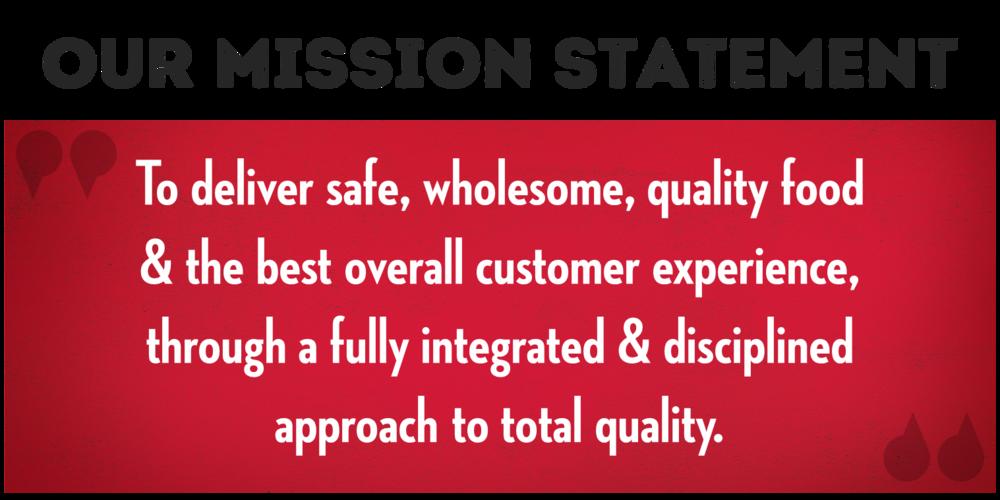 Wendy's QA Mission Statement