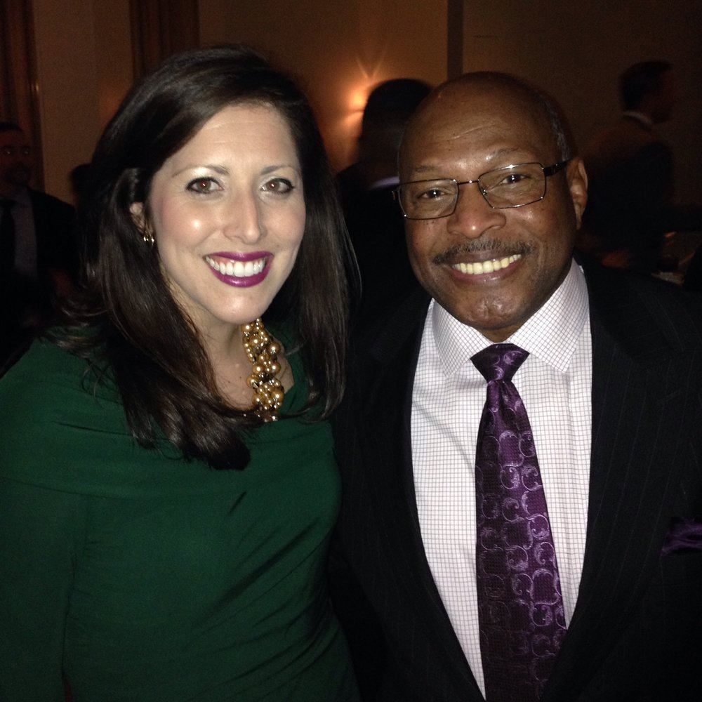 Me and Archie Griffin, the only two-time Heisman Trophy winner.  He's also been our long-time Wendy's Heisman spokesperson.
