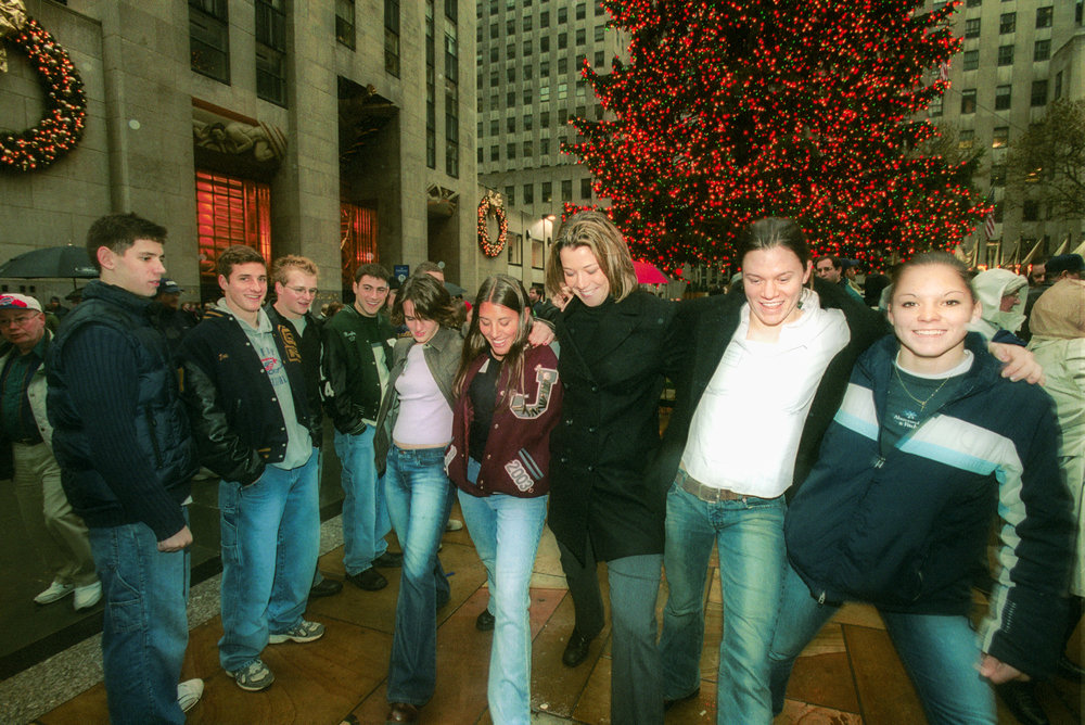 THE 2002 WENDY'S HEISMAN NATIONAL FINALISTS DURING A VISIT TO ROCKEFELLER CENTER IN NEW YORK CITY.