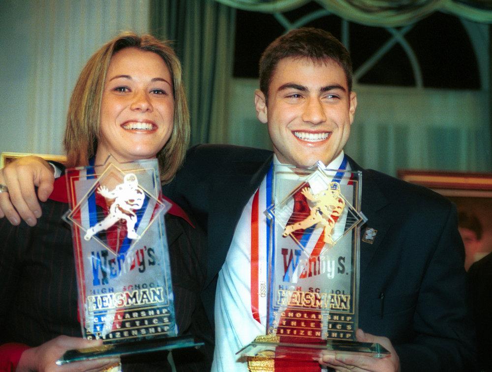 2002 Wendy's Heisman National Winners Meghan O'Leary & Robert Huefner