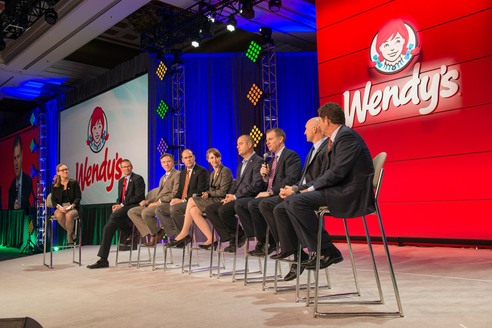 Here I am moderating a panel discussion with my fellow Senior Leadership Team members.
