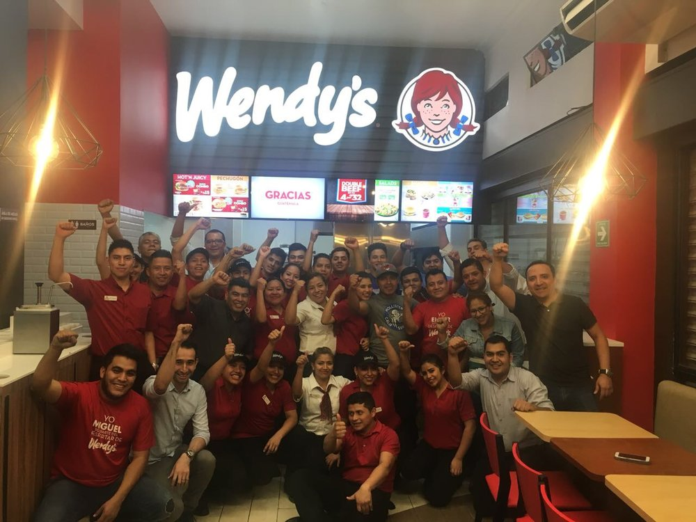 500th Wendy's International franchise in Guatemala City, Guatemala celebrates.