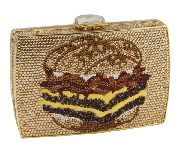 Behold: the Baconator as a purse. Our partner Sugardale has created and donated 10 custom, hand-made Swarovski crystal purses to be auctioned off in support of the Dave Thomas Foundation for Adoption.
