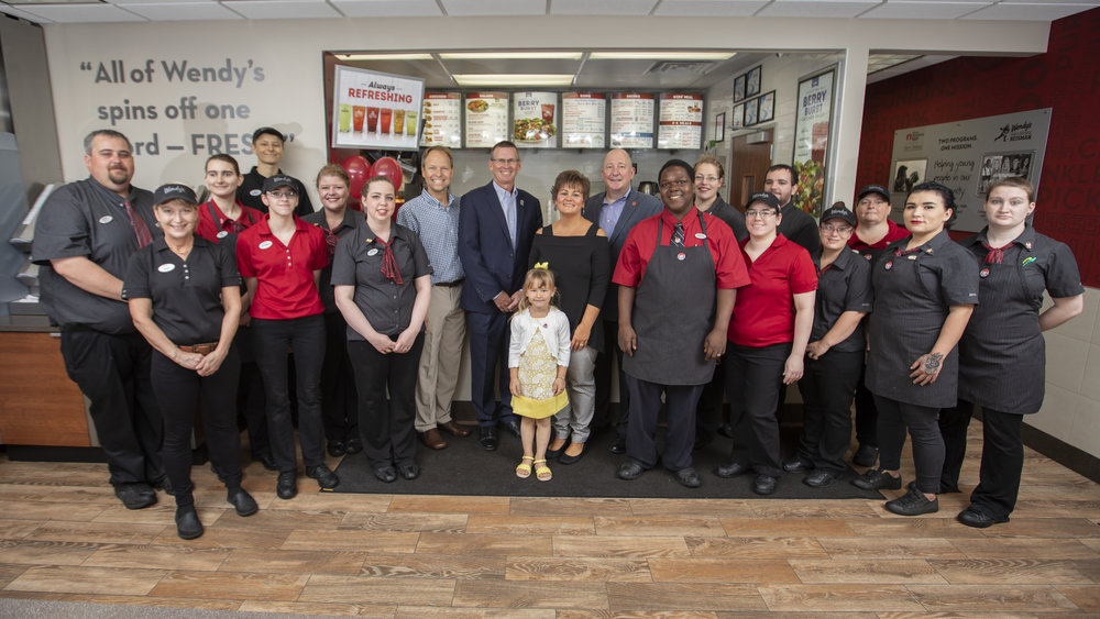 Todd Penegor, John Hooper and the Dutkavich family with the Wendy's crew who make it happen day in and day out.