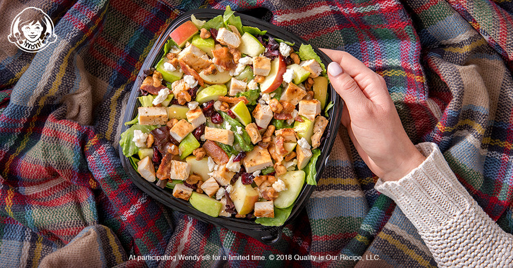 We'd like to think our Harvest Chicken Salad is a taste of fall in a bite: crisp juicy apples, bacon, sweetly glazed walnuts and just the right amount of zing from an apple cider vinaigrette.