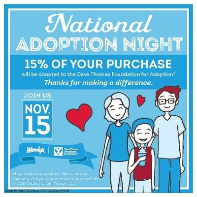 National Adoption Night Supports The Dave Thomas Foundation For Adoption