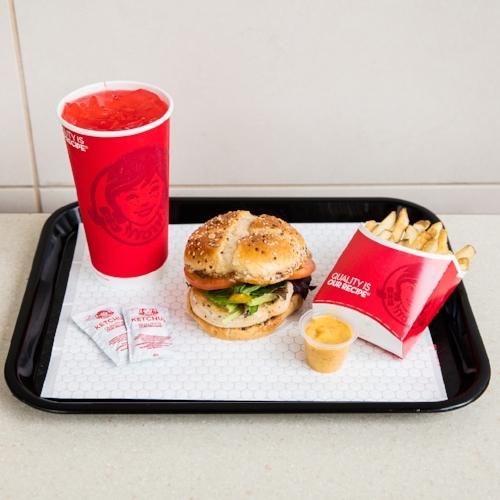 A Wendy's Grilled Chicken Sandwich Meal
