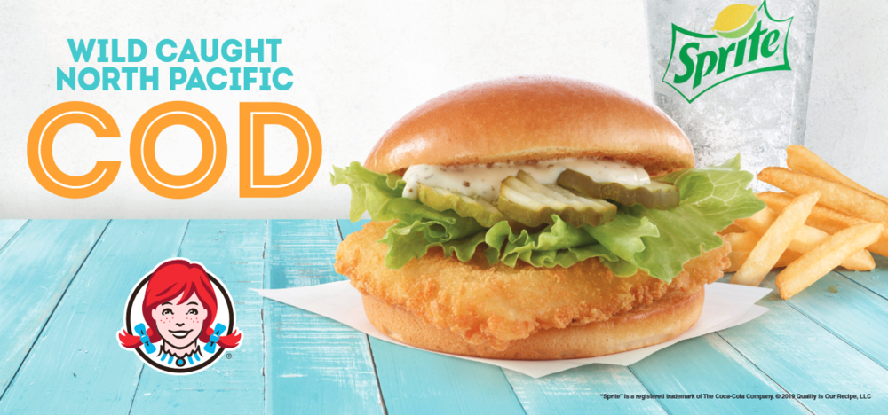 What do you eat on Friday during Lent? The Wendy's Pacific Cod Sandwich, also known as the fish sandwich that's a cut above the rest.
