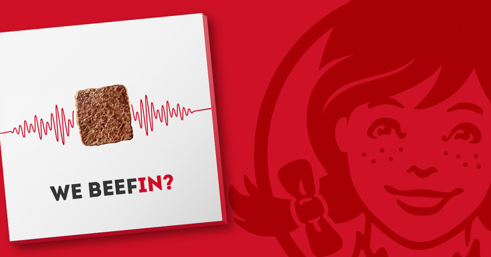 """Wendy's Twitter roasts took a turn when we took it a step further with the drop of the 5-song EP """"webeefin?""""."""