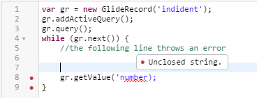 ServiceNow Geneva Script Editor