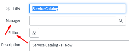 helsinki service catalog manager and editors