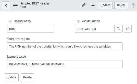 servicenow scripted rest api header