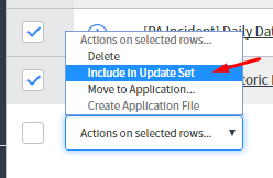 servicenow force to update set list choice ui action