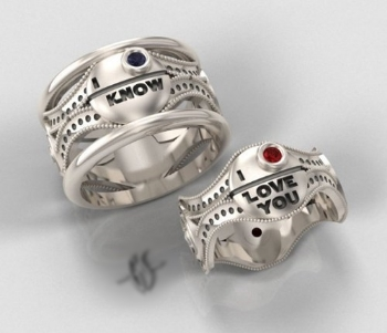 My favourite set of wedding rings to date.