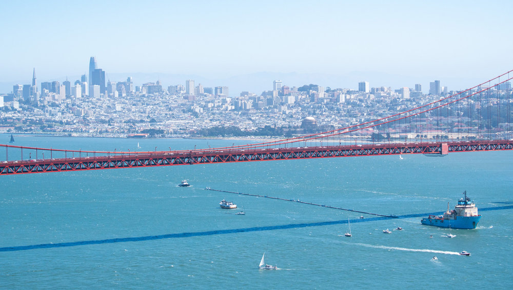 Gold Gate Bridge Ocean Clean up Project
