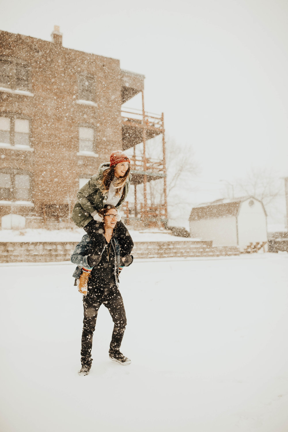 DJ and Erin Kansas City Snowfall Engagement 10.jpg