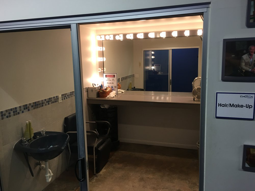 We have two private makeup areas.