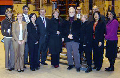 Left to right: Mari Nurminen, Senior Advisor, Strategic Planning, Powertech; Donna Jones, Manager, Economic Development, City of Surrey; Kathy Nguyen, Chief Financial Officer, Powertech; Tom Gill, Councillor; Bob Elton, Executive Chair, Powertech; Dianne Watts, Mayor, City of Surrey; Jan Zawadzki, Director, Power Labs, Powertech; Craig Webster, Director, Clean Transportation, Powertech; Linda Hepner, Councillor; Gwen Baladjay, Acting Executive Assistant, Office of the President & COO, Powertech; Andrew Klimek, Director, Smart Utility, Powertech; Barinder Rasode, Councillor.