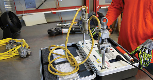 Testing assembling worker protection grounds powertech labs as part of safety equipment grounds are used to dissipate induced voltage on de energized high voltage electrical circuits and to provide a safety ground publicscrutiny Choice Image