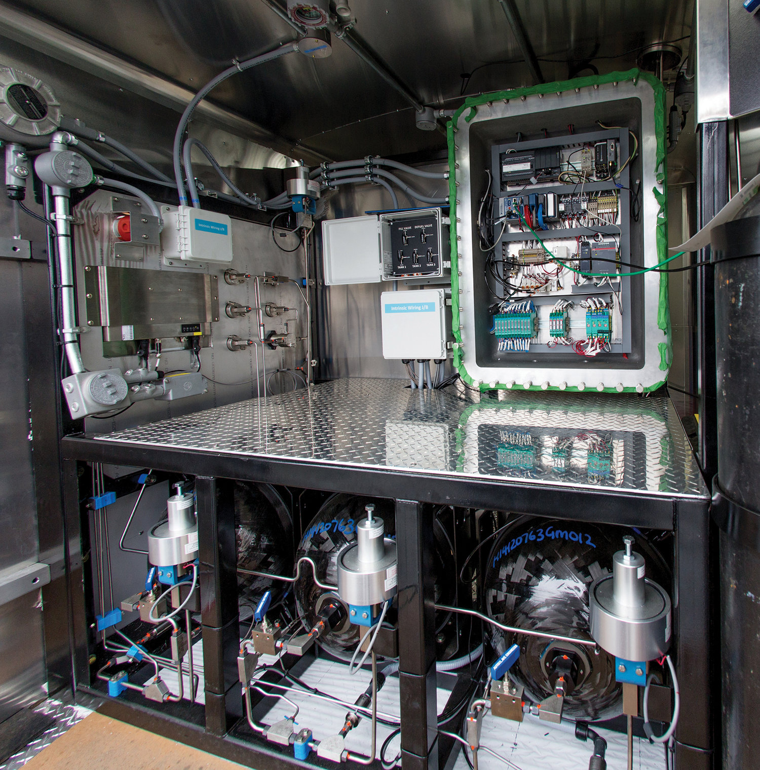 Hydrogen Station Testing Devices Powertech Labs Trailer Wiring Back Of During Build2 Edit