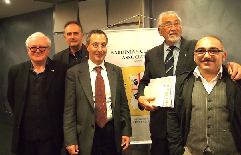 L-R: Dott. Piero Genovesi, Paul Lostia, Dott Aldo Aledda, Pino Bosi e Saverio Minutolo.(Photo by: Gabriella G. Hubbard)