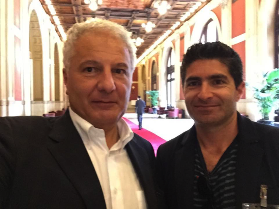 "Marco Fedi (left - PD   Member of the Foreign Constituency of Italian Parliament) and     Daniele Curto (right - Daniele Curto - Managing Director ""Segmento"")"