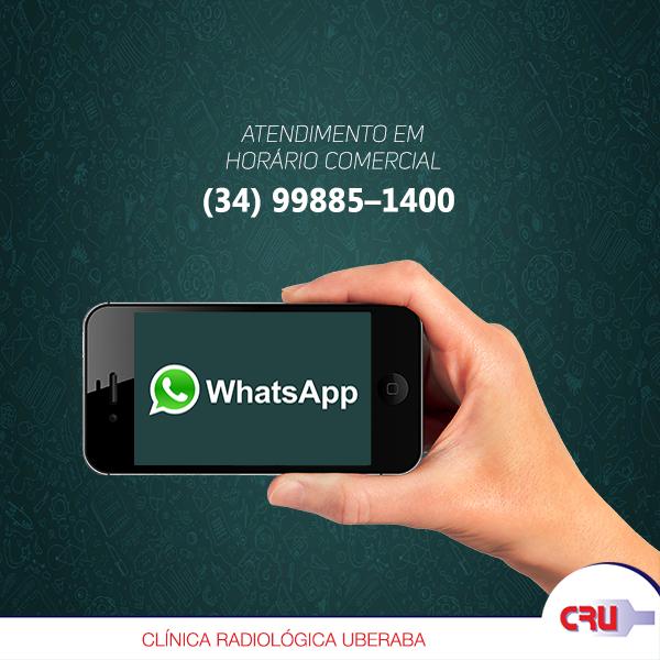 Marcação por WhatsApp somente para exames de Tomografia Computadorizada e Ressonancia Magnetica