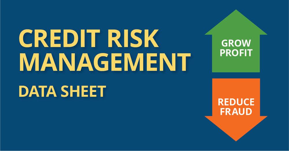 credit risk management data sheet