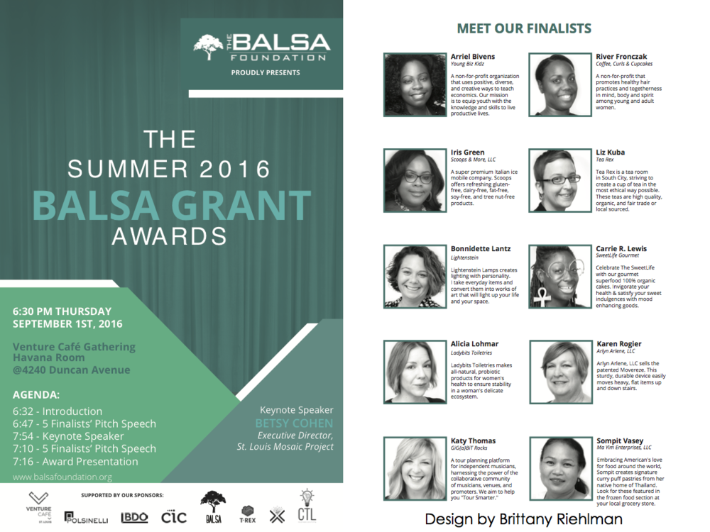 Handout from the BALSA Grant Awards Ceremony.