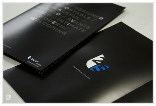 Black metallic pocket folder kallen printing calgary ab the folder was offset printed with 2 hits of black a pantone blue and metallic silver ink plus a dull and gloss varnish absolutely stunning reheart Gallery