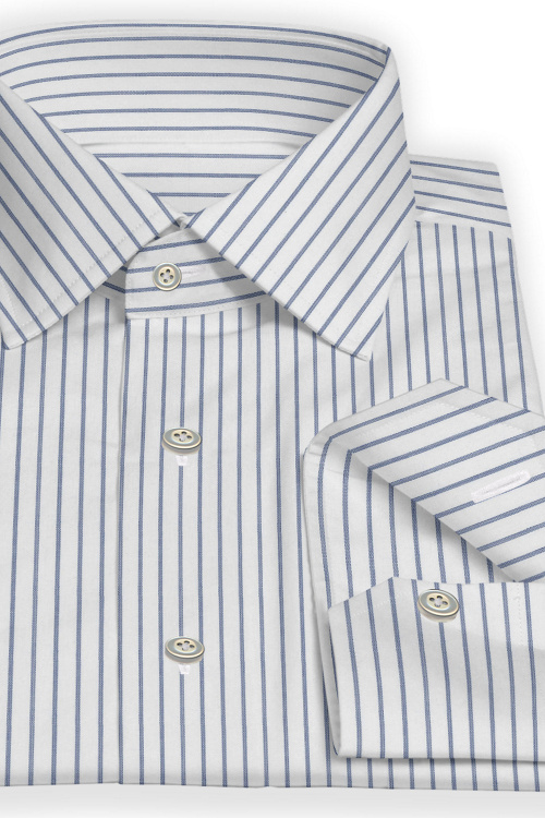 Navy Wide Stripe Shirt