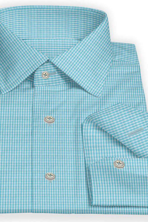 Teal Multi Check Shirt
