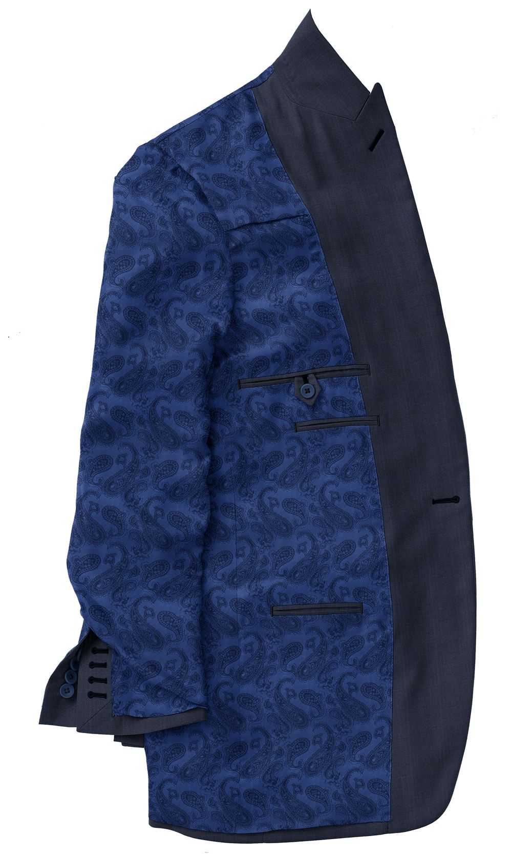Royal Blue Paisley Lining