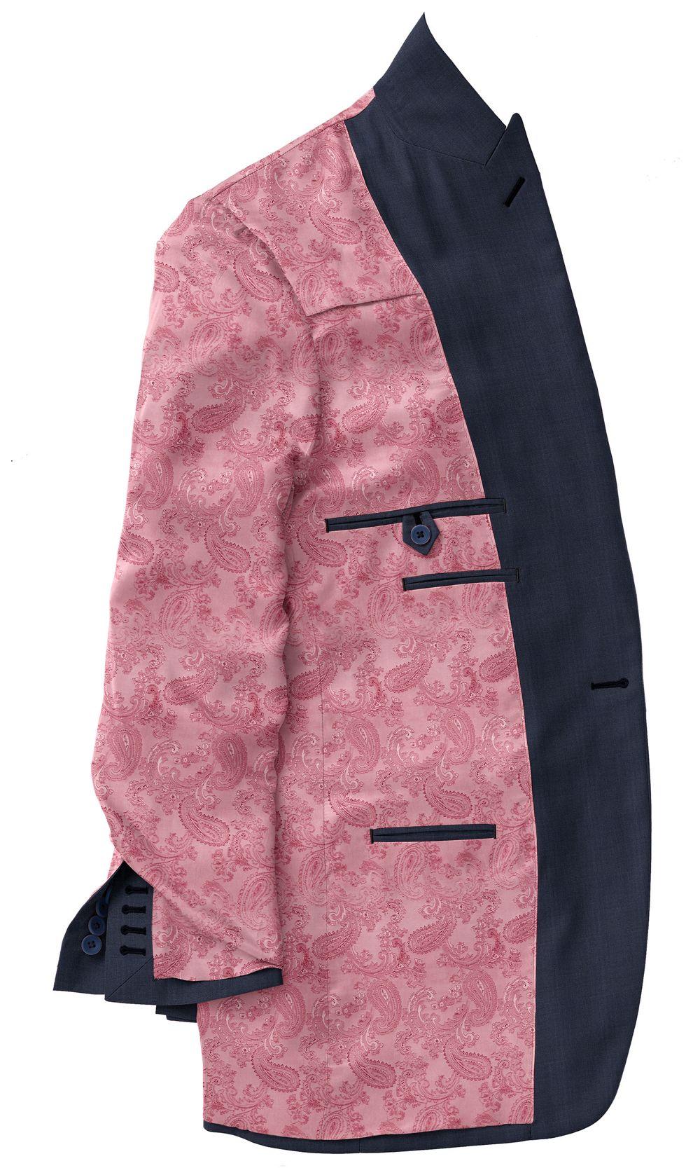 Pink Paisley Lining