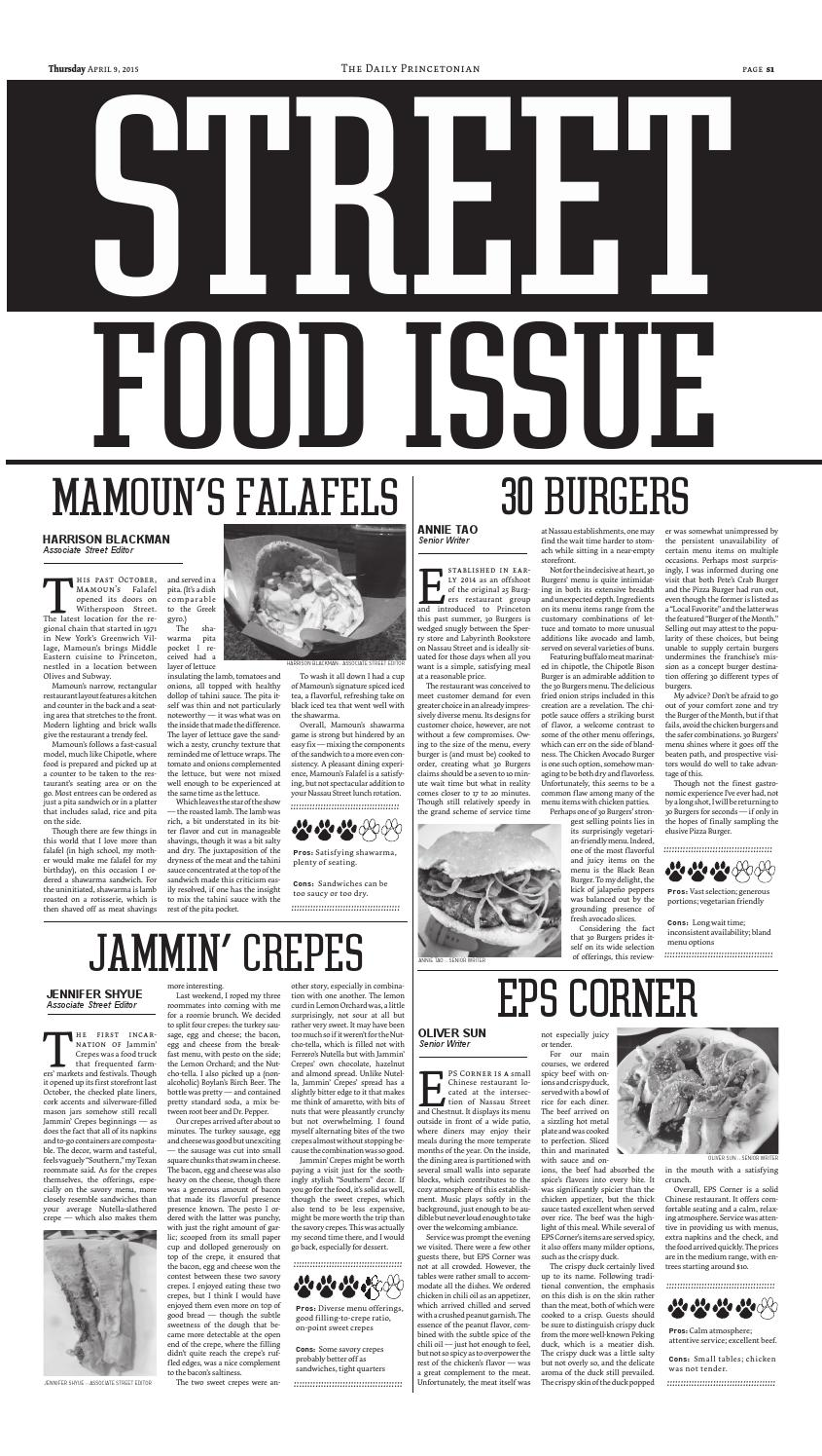 Review of Jammin' Crepes in Street section of The Daily Princetonian