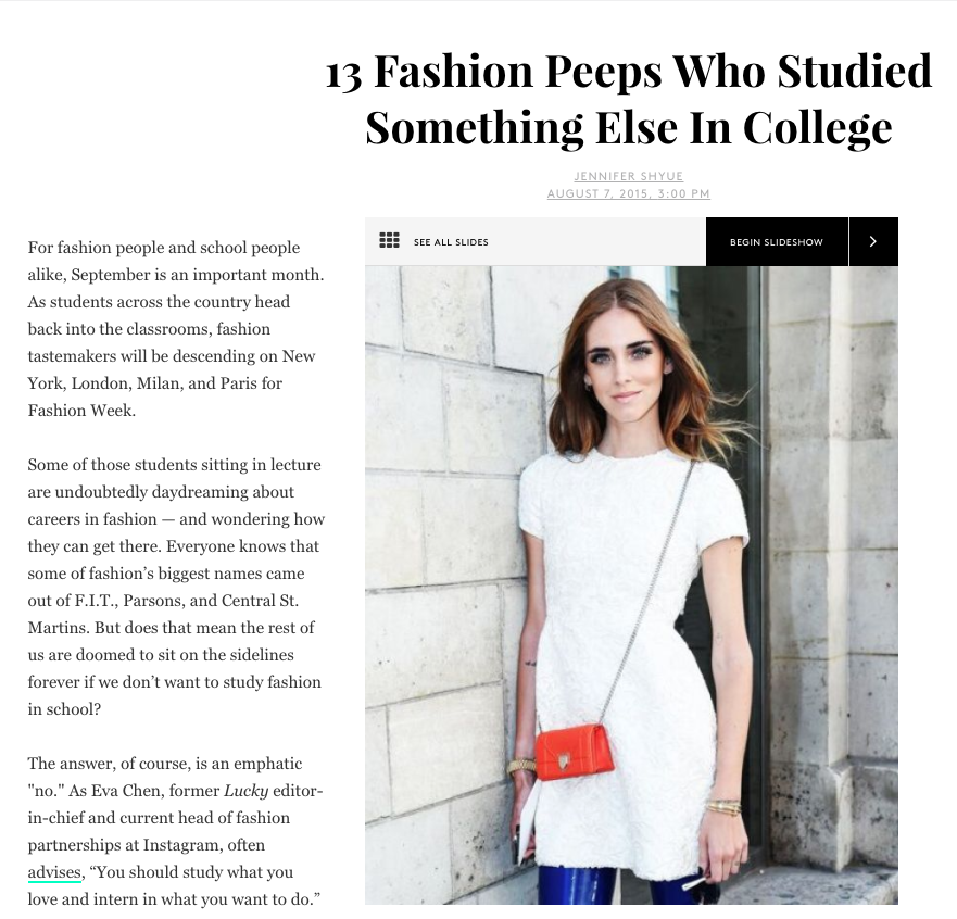 13 important fashion people who didn't study fashion in college in Refinery29