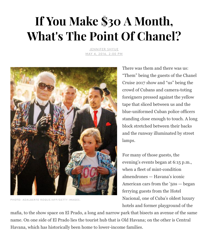If You Make $30 A Month, What's The Point Of Chanel?