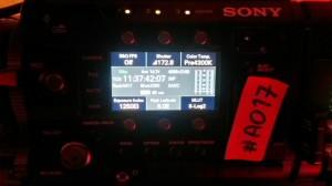 sony f55 audio