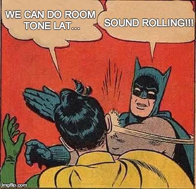 Production sound meme with batman