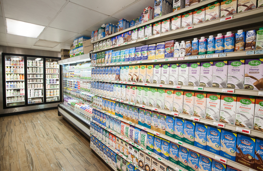 Dairy Section of Mana Foods Grocery Department