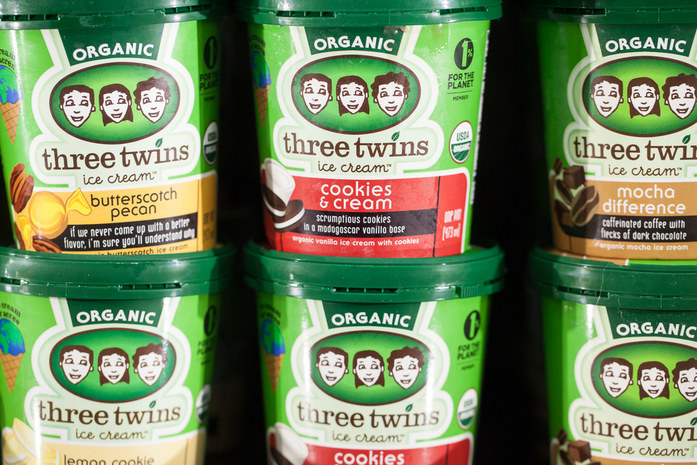 Three Twins Organic Ice Cream in Mana Food Grocery Department