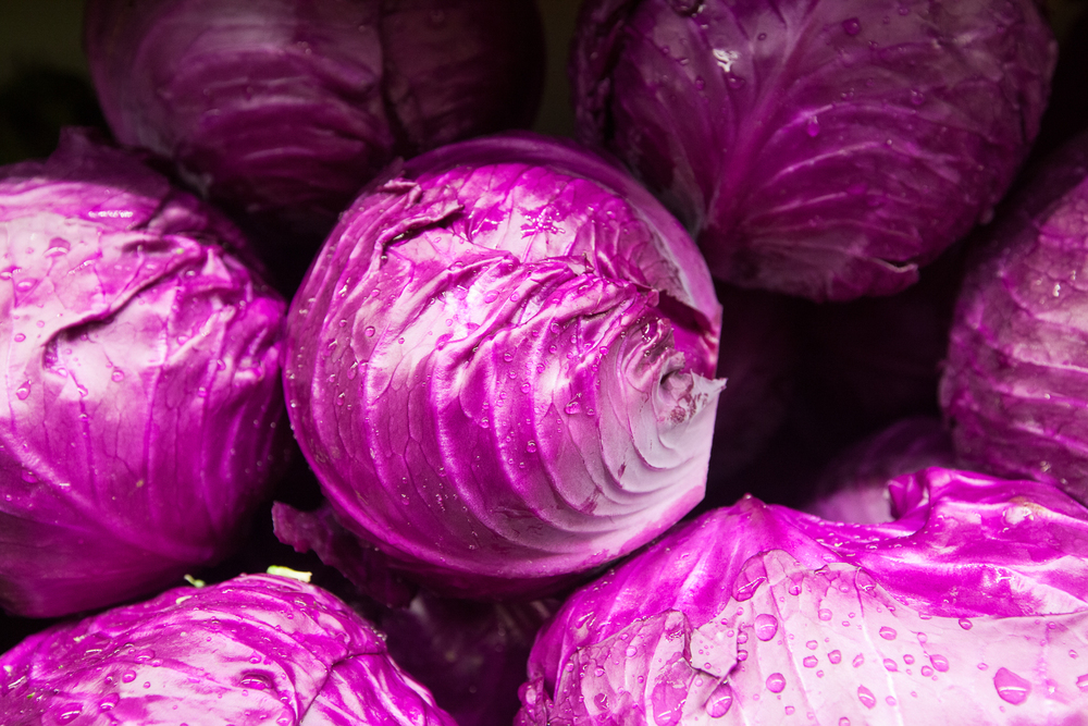 purple cabbage from Mana Foods Produce Department
