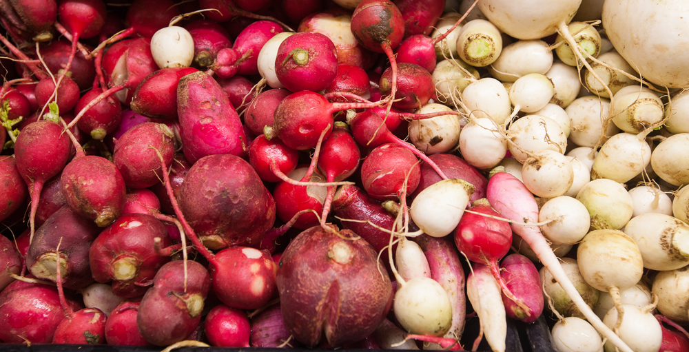 organic radishes from Mana Foods Produce Department