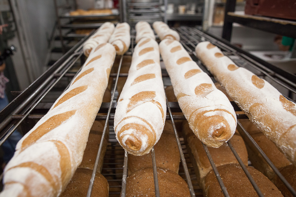 Fresh Baked Baguettes From Mana Foods Bakery