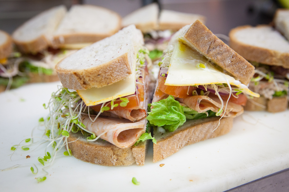 Fresh Organic Sandwich Prepared by Mana Foods Deli