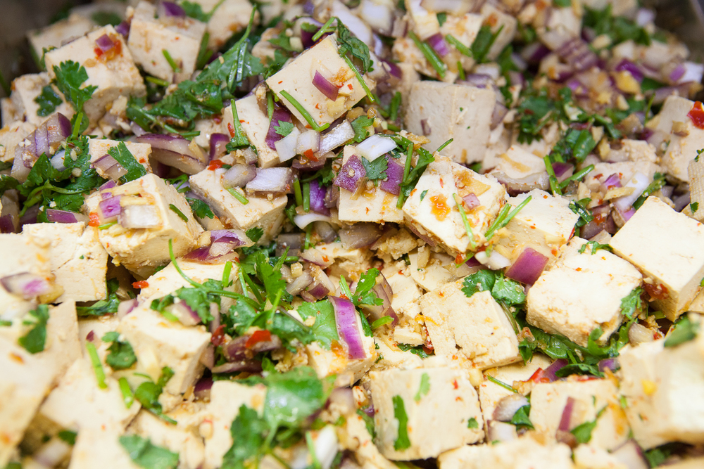 Fresh Organic Tofu Salad Prepared by Mana Food Deli