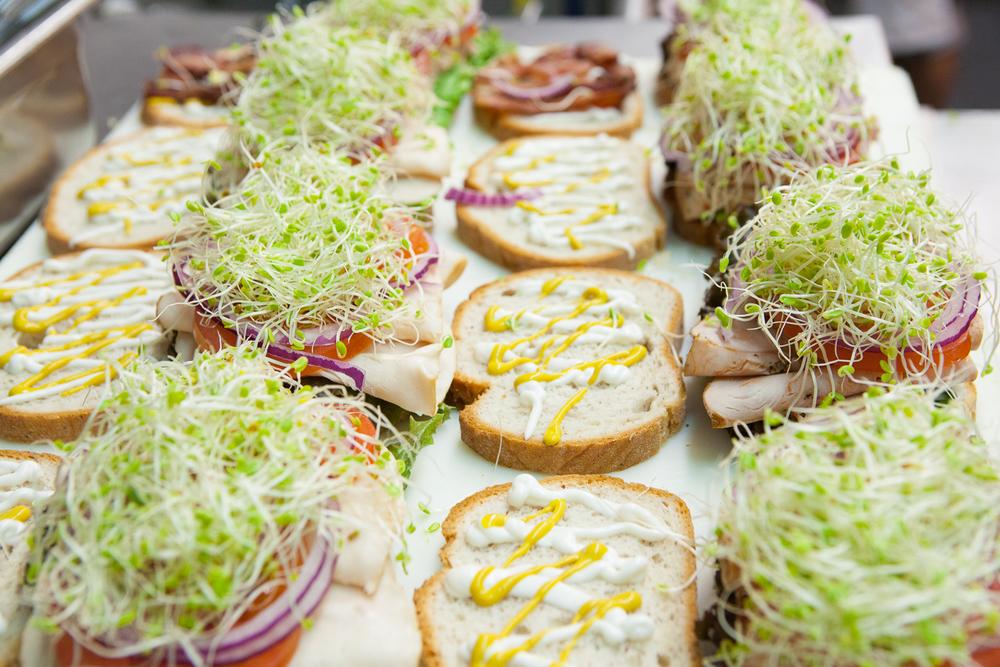 Fresh Organic Sandwiches Prepared by ManaFoods Deli