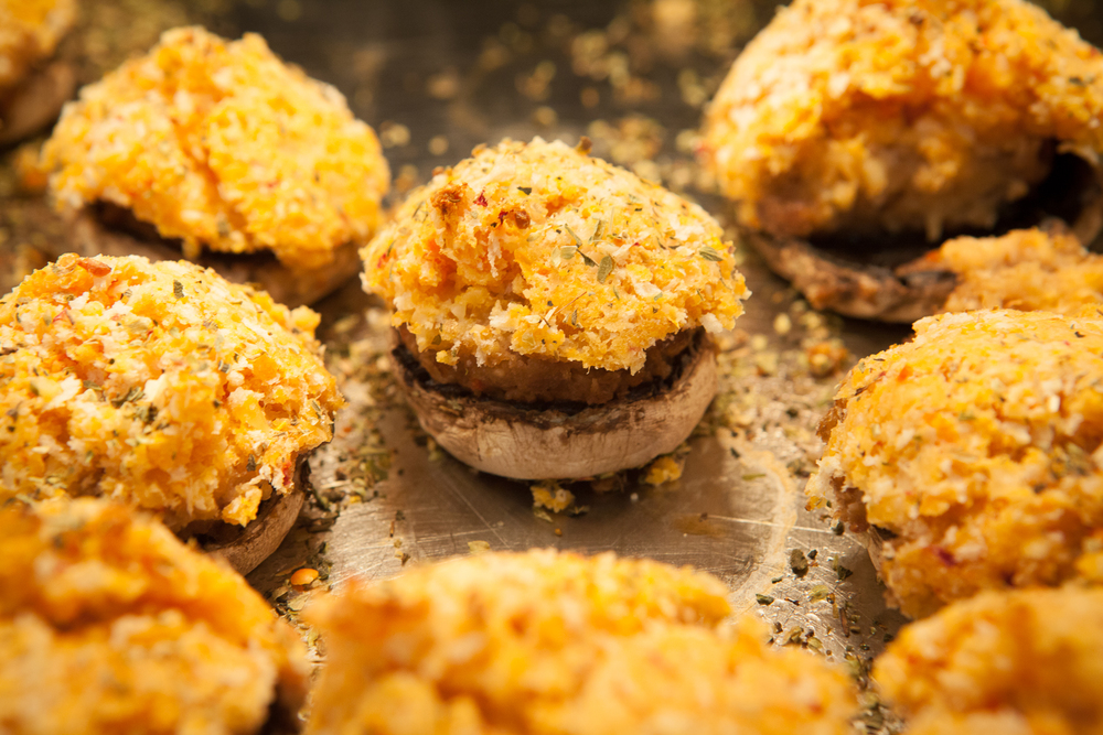 stuffed mushrooms from mana foods deli